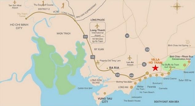 Những thuận lợi từ vị trí của dụ án Hồ Tràm Complex